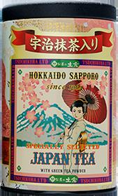 抹茶入日本茶蘭字缶(朱)